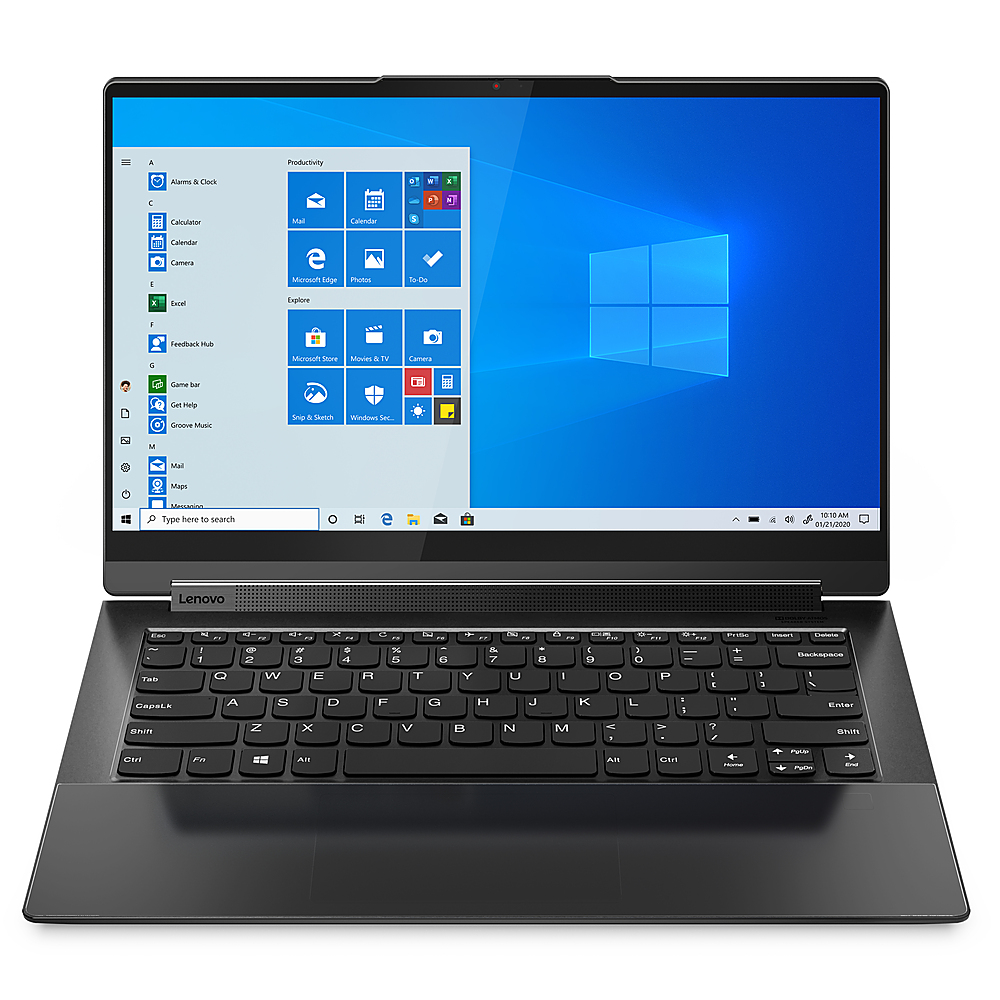 """Front Zoom. Lenovo - Yoga 9i 14 2-in-1 14"""" Touch-Screen Laptop - Intel Core i7 - 16GB Memory - 512GB SSD - Shadow Black."""