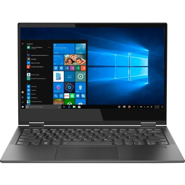 """Front Zoom. Lenovo - Yoga C630 WOS 2-in-1 13.3"""" Touch-Screen Laptop - Snapdragon 850 - 8GB Memory - 128GB Solid State Drive (Verizon) - Iron Gray."""