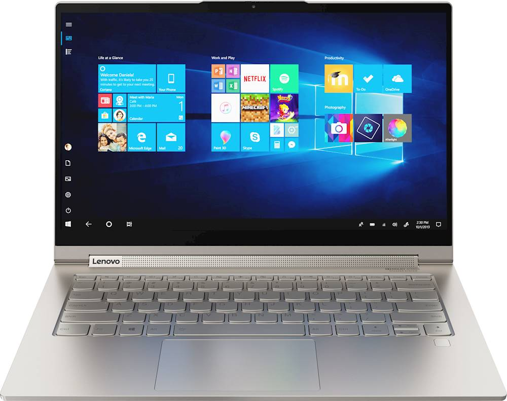 "Front Zoom. Lenovo - Yoga C940 2-in-1 14"" Touch-Screen Laptop - Intel Core i7 - 12GB Memory - 512GB SSD - Mica."