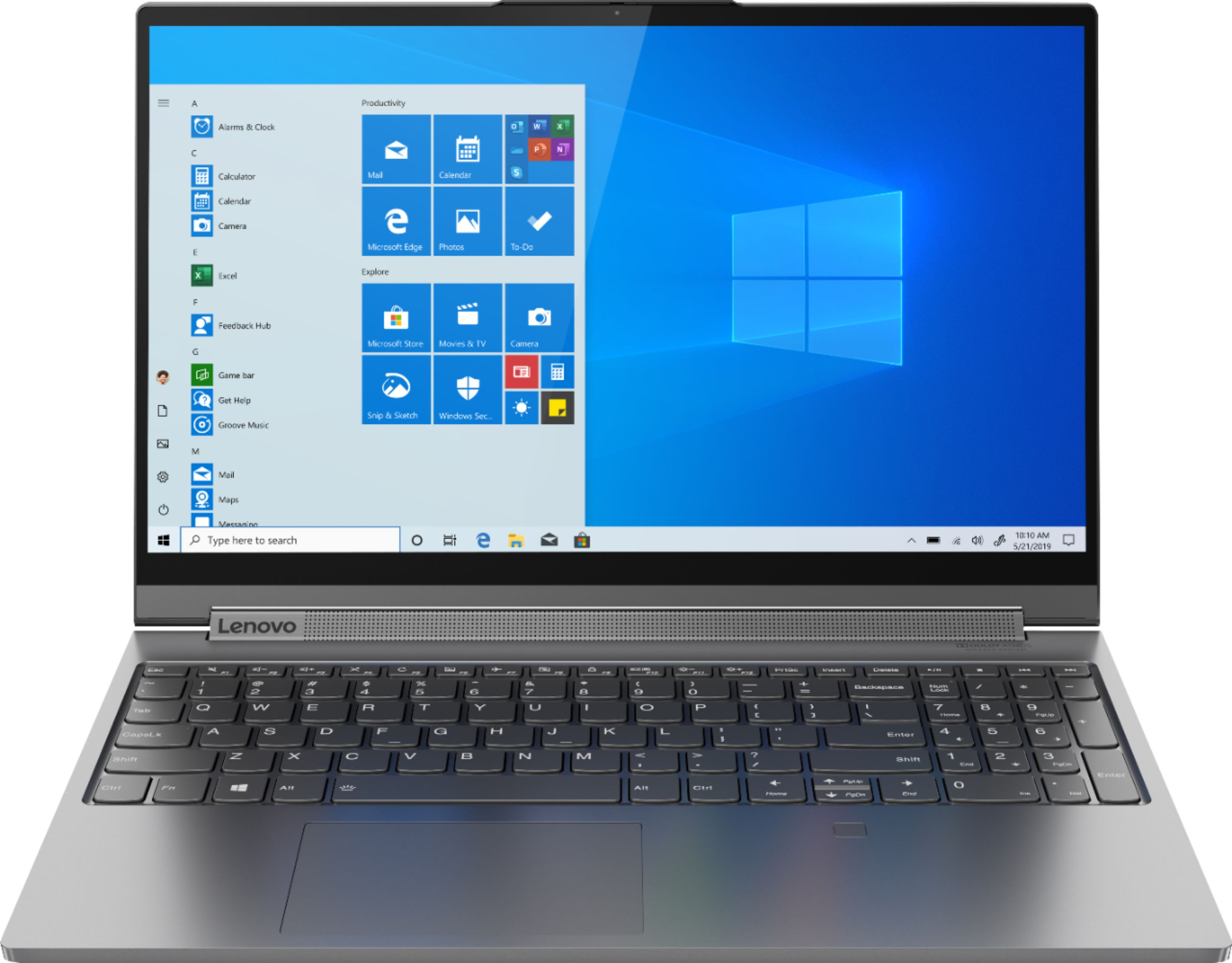 """Front Zoom. Lenovo - Yoga C940 2-in-1 15.6"""" Touch-Screen Laptop - Intel Core i7 - 16GB Memory - NVIDIA GeForce GTX 1650 - 512GB SSD - Iron Gray."""
