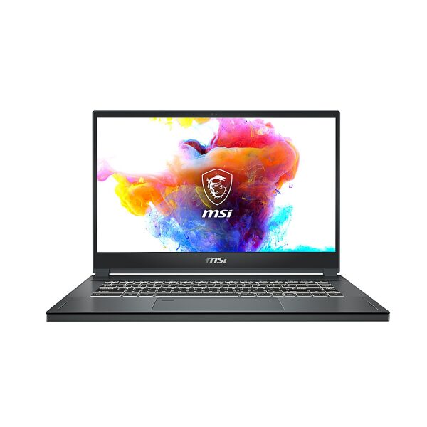 "Front Zoom. MSI - Creator 15 -Professional Creator Series - 15.6"" 4K UHD 3840 x 2160 Laptop - i7-10875H - 32GB - 1TB - Space Gray."