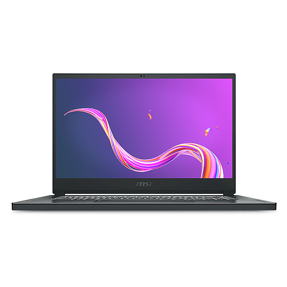 """Front Zoom. MSI - Creator 15.6 """" Touchscreen Notebook - i7-10875H 16GB  NVIDIA GeForce RTX 2060 with 6 GB 1TB SSD - Space Gray with Silver Diamond Cut."""