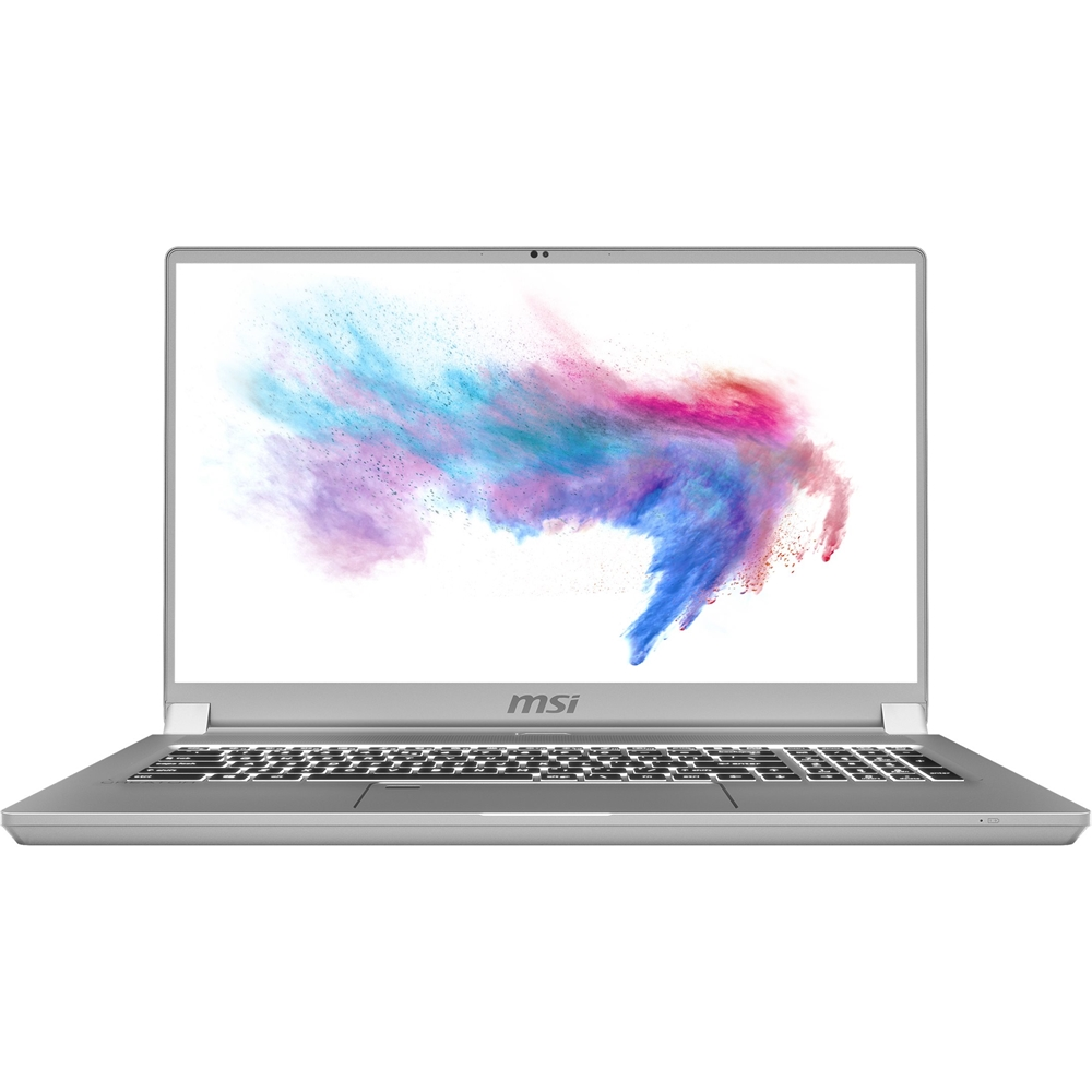 "Front Zoom. MSI - Creator 17 17.3"" Laptop - Intel Core i7 - 16GB Memory - NVIDIA GeForce RTX 2060 - 512GB SSD - Space Gray With Silver Diamond Cut."