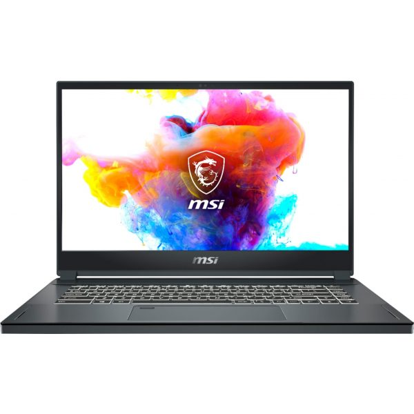 "Front Zoom. MSI - Creator15 15.6"" Gaming Laptop - Intel Core i7 - 16GB Memory - NVIDIA GeForce RTX 2060 - 512GBSolid State Drive - Space Gray with Silver Diamond cut."