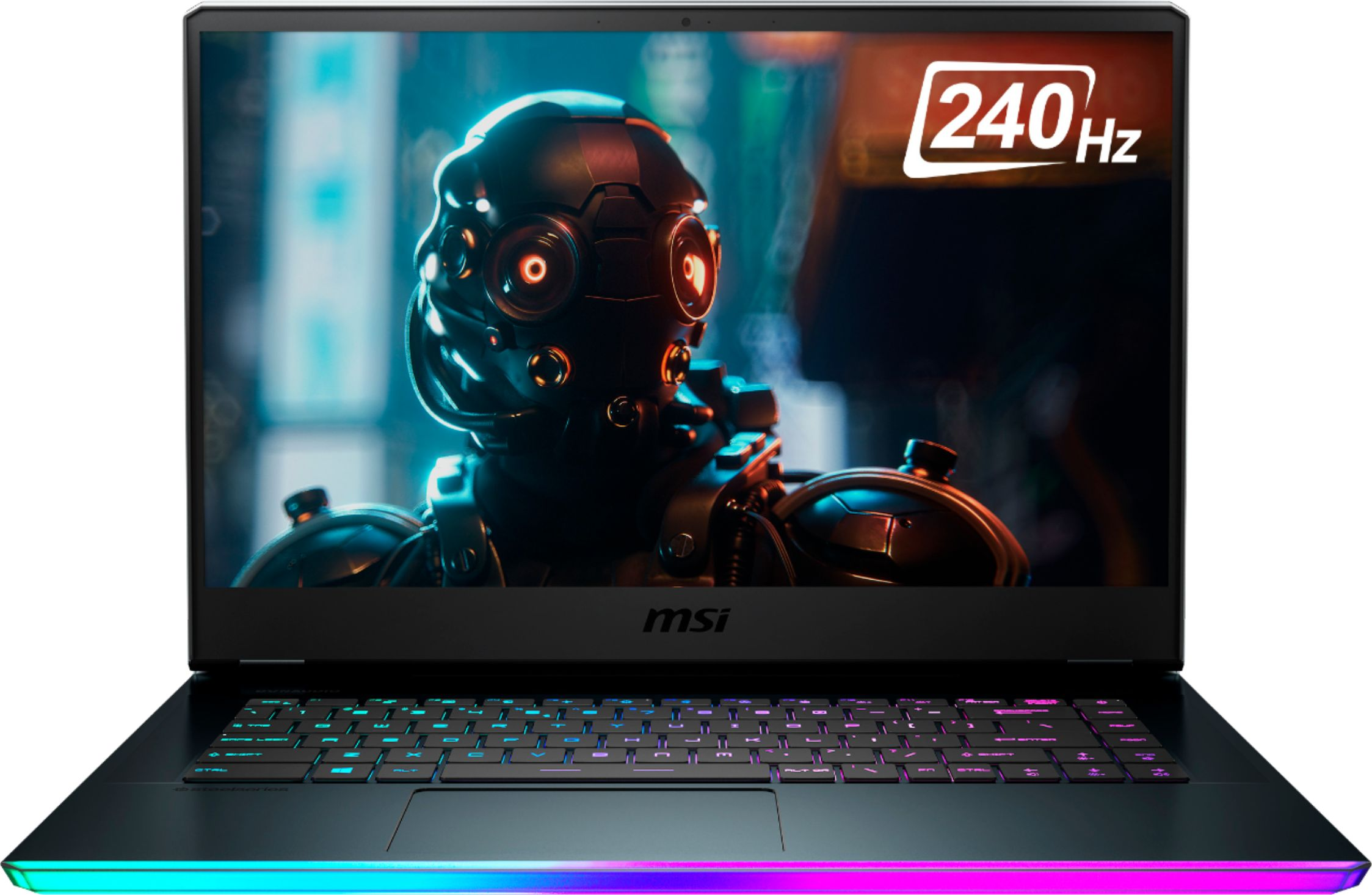 "Front Zoom. MSI - GE66 10SFS 15.6"" Gaming Laptop - Intel Core i7 - 32GB Memory - NVIDIA GeForce RTX 2070 SUPER - 1TB SSD - Aluminum Black."