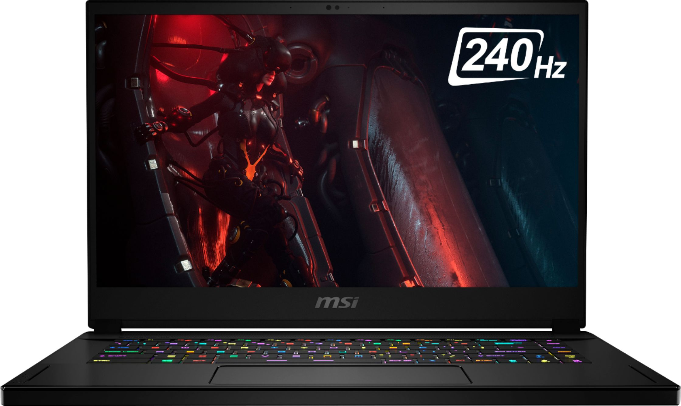 """Front Zoom. MSI - GS66 Stealth 15.6"""" Gaming Laptop - Intel Core i7 - 16GB Memory - NVIDIA GeForce RTX 2070 - 1TB Solid State Drive - Core Black."""