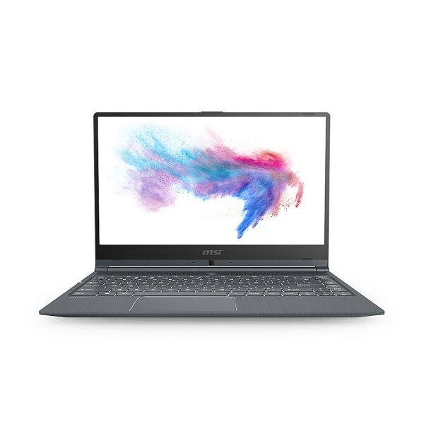 """Front Zoom. MSI MODERN141029 14"""" Gaming Notebook - Full HD - 1920 x 1080 - Intel Core i5 (10th Gen) i5-10210U 1.80 GHz - Carbon Gray."""