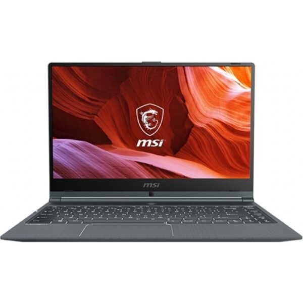 "Front Standard. MSI - Modern 14"" Laptop - Intel Core i7-10510U - 8GB Memory - 512GB SSD - Carbon Gray."