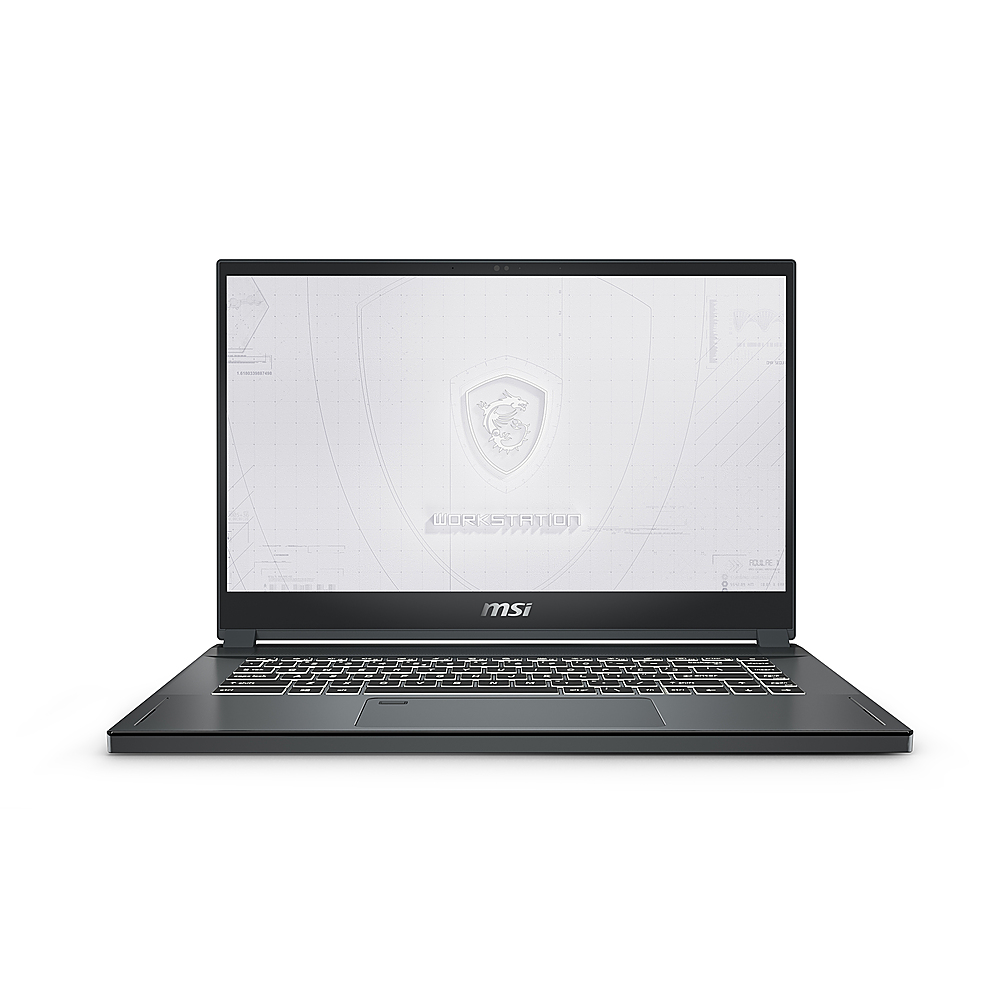 """Front Zoom. MSI WS66081 15.6"""" Gaming Mobile Workstation."""