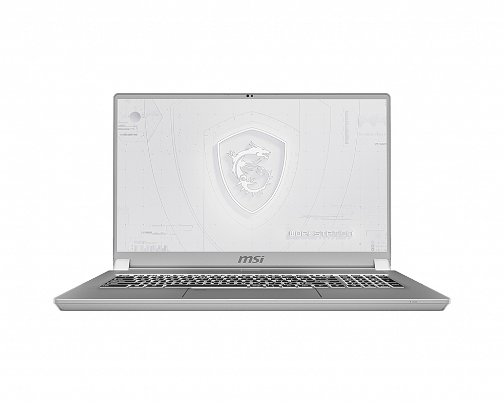 """Front Zoom. MSI  WS75463 17.3"""" Gaming Mobile Workstation."""