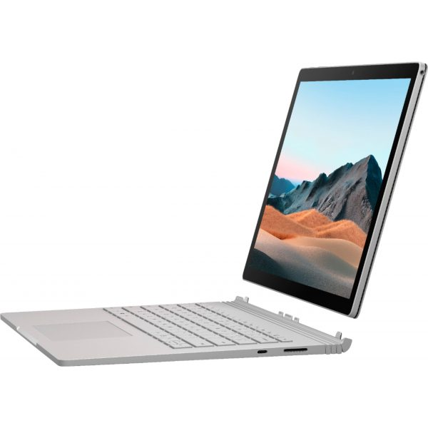 """Microsoft - Surface Book 3 13.5"""" Touch-Screen PixelSense™ - 2-in-1 Laptop - Intel Core i7 - 16GB Memory - 256GB SSD - Platinum"""