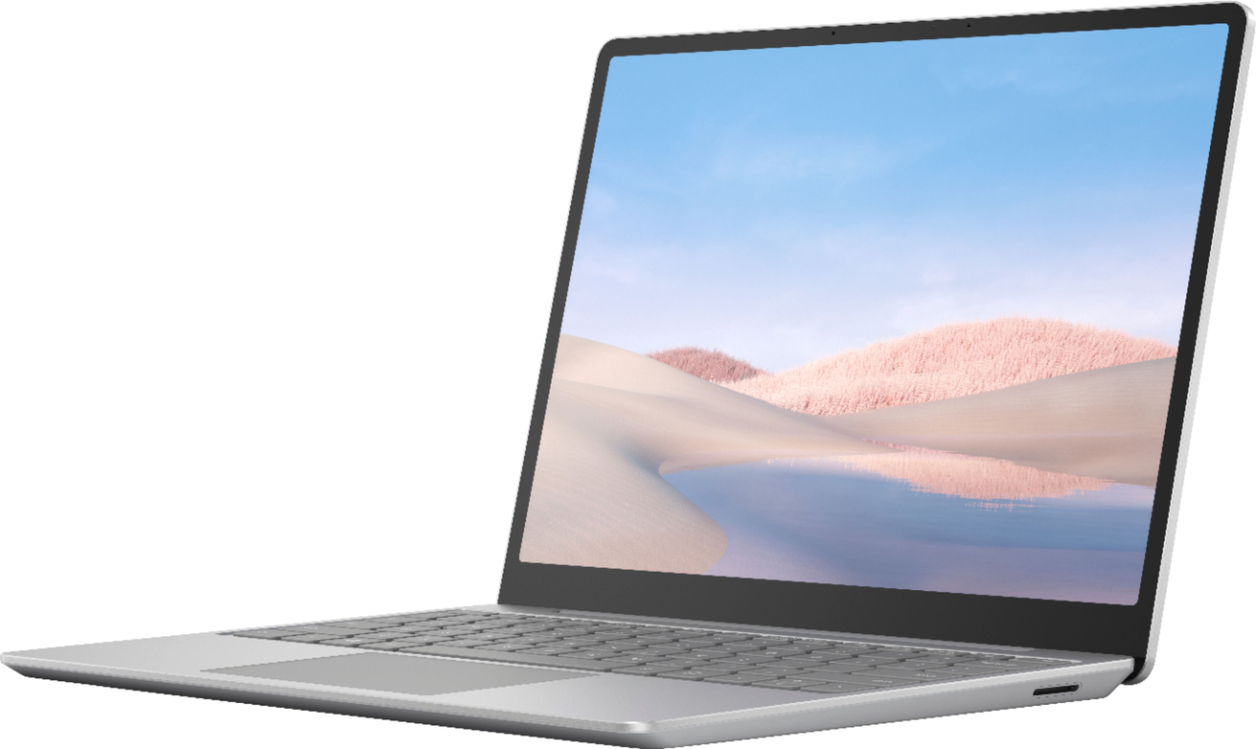 """Front Zoom. Microsoft - Surface Laptop Go - 12.4"""" Touch-Screen - Intel 10th Generation Core i5 - 4GB Memory - 64GB eMMC - Platinum."""