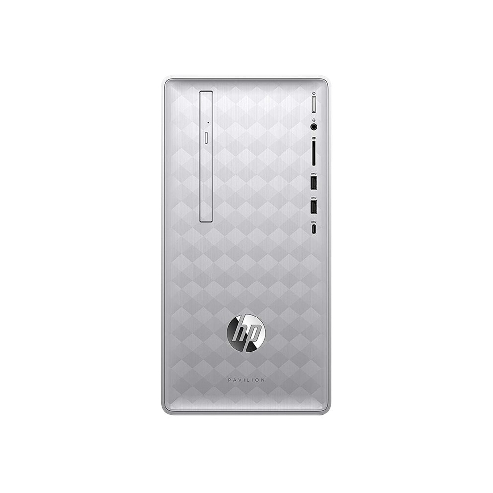 Front Zoom. Pavilion Desktop - Intel Core i7 - 16GB Memory - 1TB HDD + 256GB SSD - HP Finish In Natural Silver.