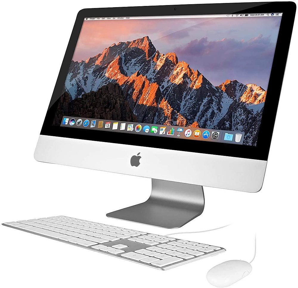 """Front Zoom. Pre-Owned - Apple iMac 21.5-Inch Desktop """"Core i5"""" 2.7GHz (Mid-2014)  - 8GB Memory - 1000GB HDD."""