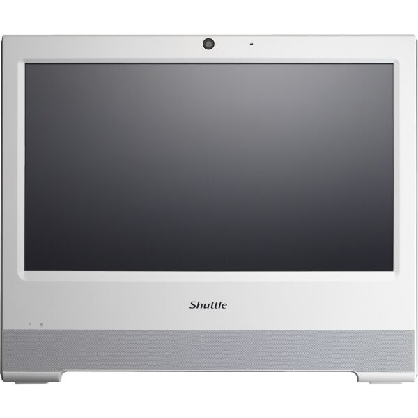 "Front Zoom. Shuttle - XPC 15.6"" Touch-Screen Barebone All-In-One - Intel Celeron - White."