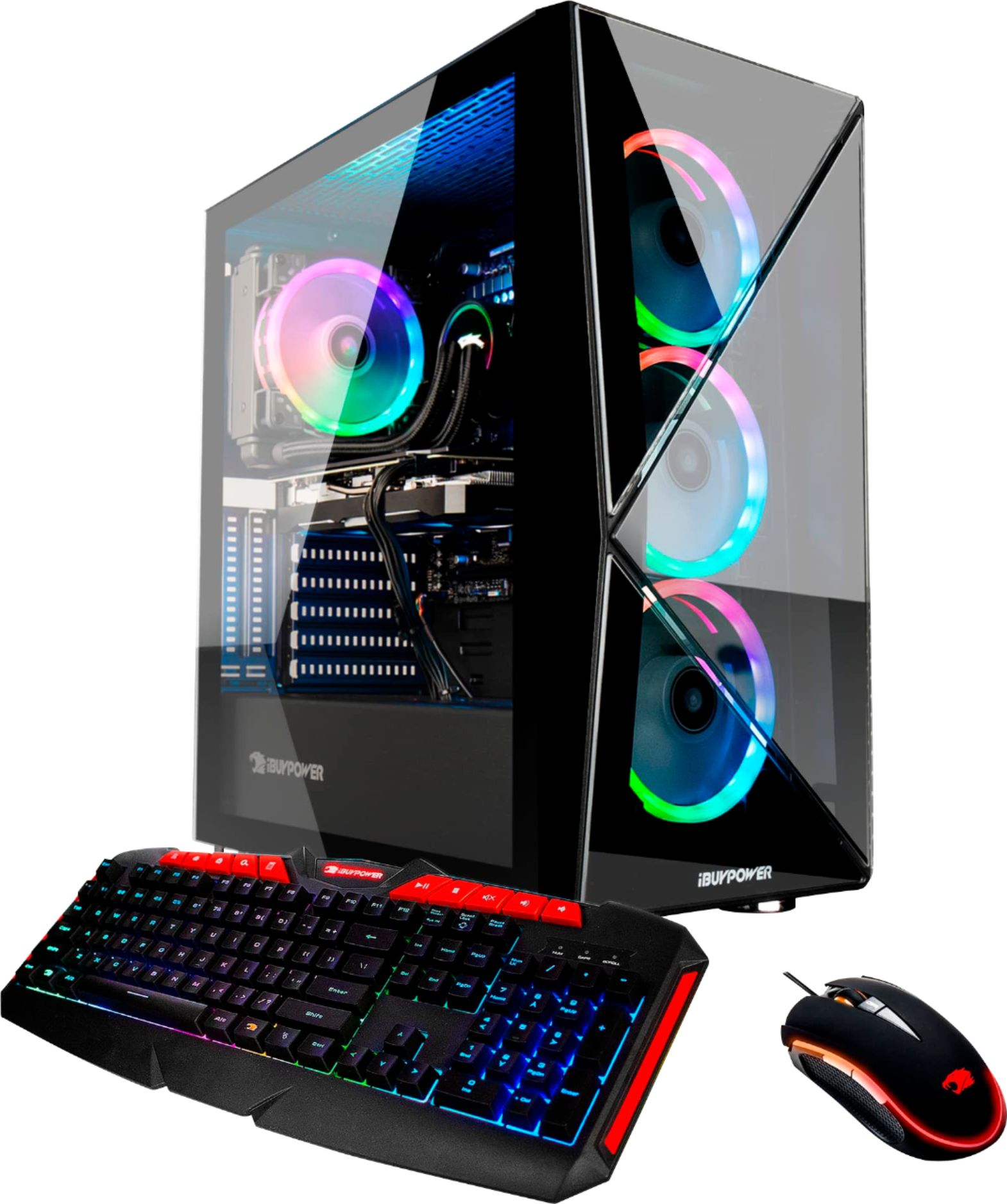 Front Zoom. iBUYPOWER - Gaming Desktop - Intel Core i7-9700K - 16GB Memory - NVIDIA GeForce RTX 2080 SUPER - 1TB HDD + 480GB SSD - Black.