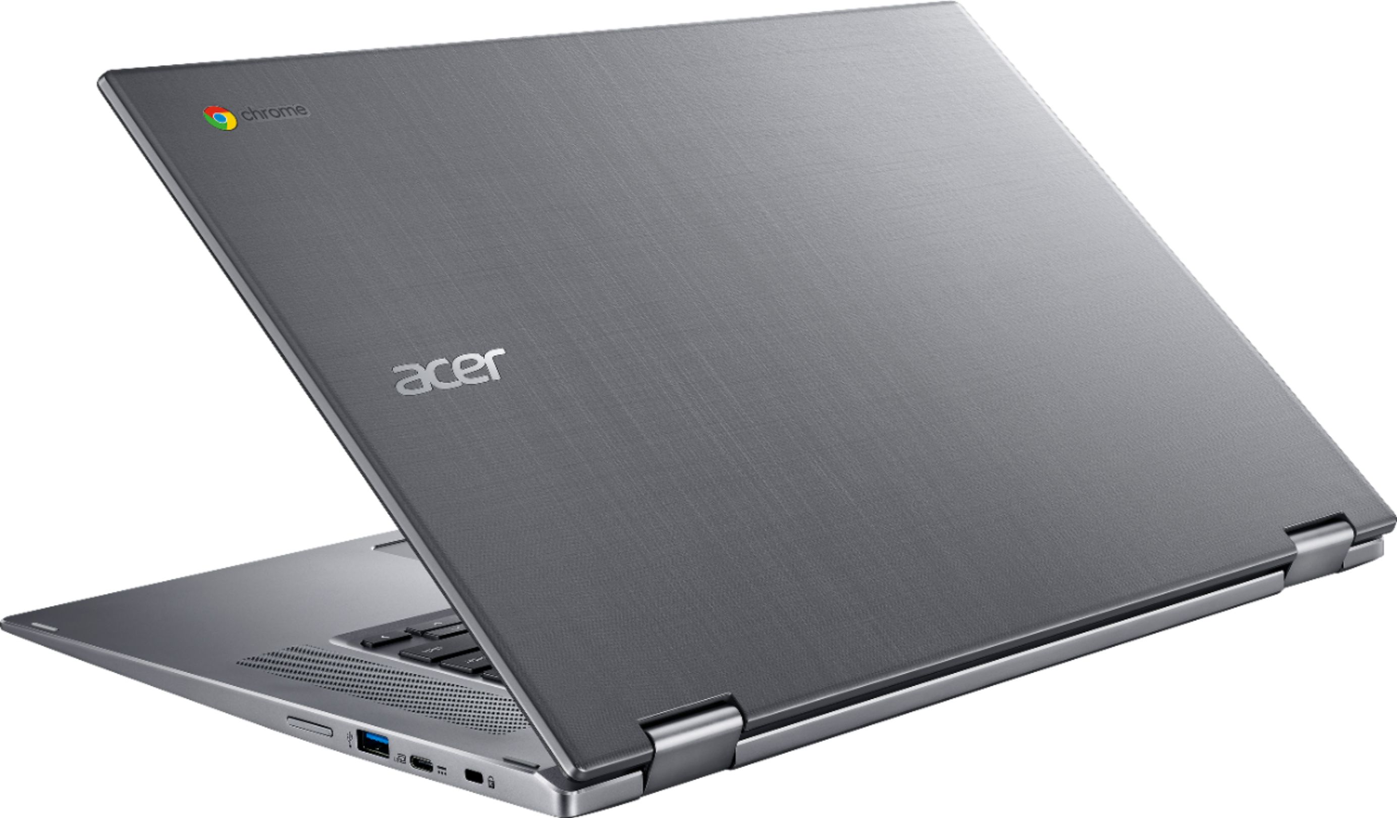 """Alt View Zoom 1. Acer - Spin 15 2-in-1 15.6"""" Touch-Screen Chromebook - Intel Pentium - 4GB Memory - 32GB eMMC Flash Memory - Sparkly Silver."""