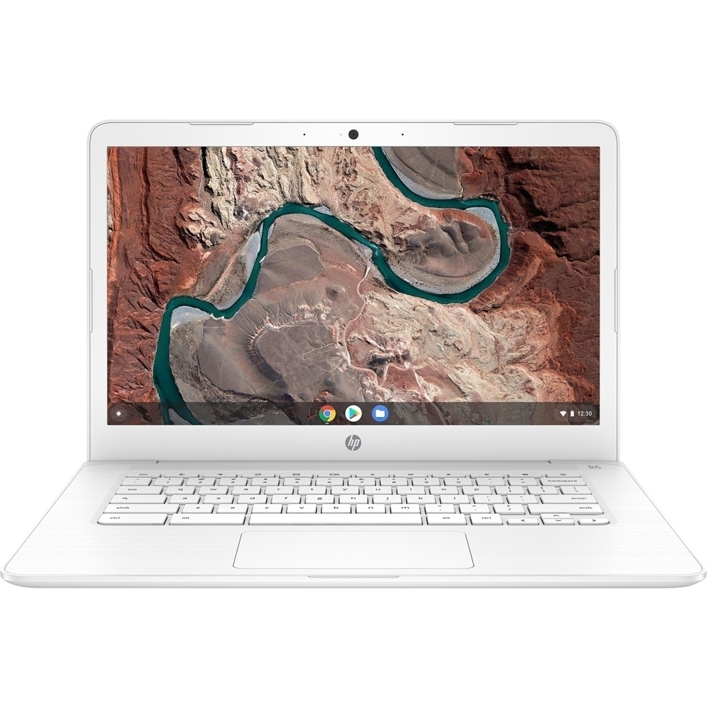 """Front Zoom. HP - 14"""" Touch-Screen Chromebook - AMD A4-Series - 4GB Memory - AMD Radeon R4 - 32GB eMMC Flash Memory - Snow White."""