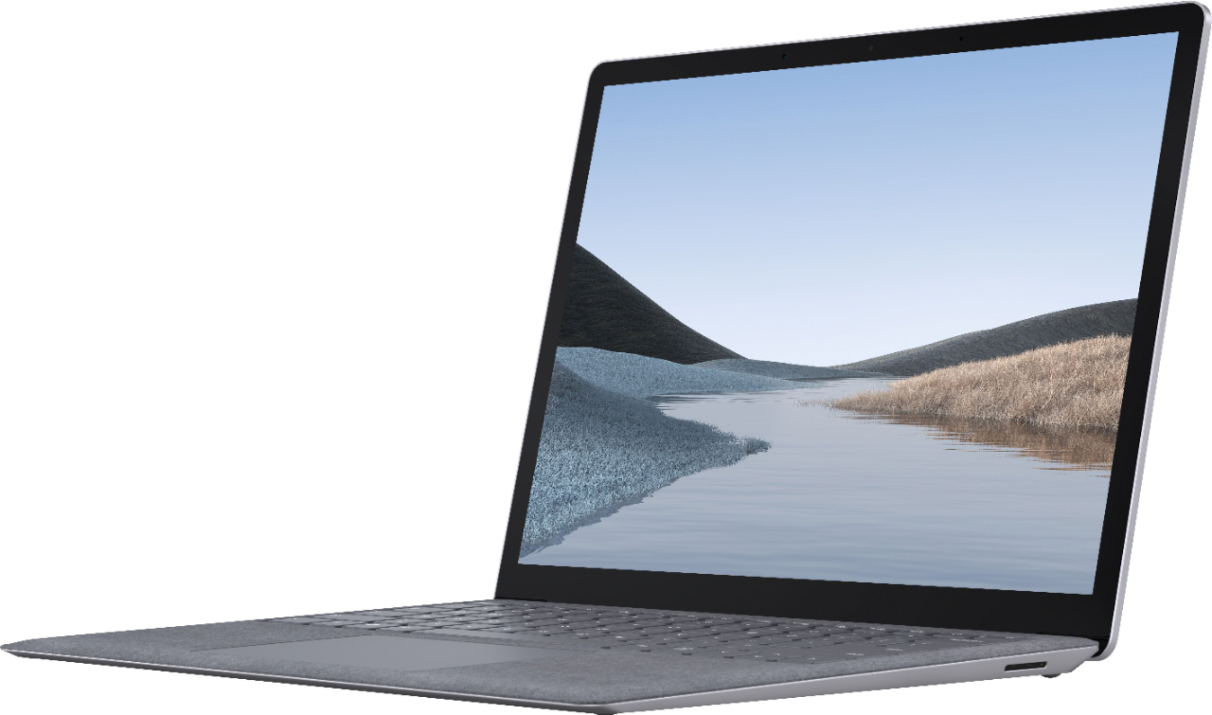 """Front Zoom. Microsoft - Surface Laptop 3 - 13.5"""" Touch-Screen - Intel Core i5 - 8GB Memory - 256GB Solid State Drive (Latest Model) - Platinum."""