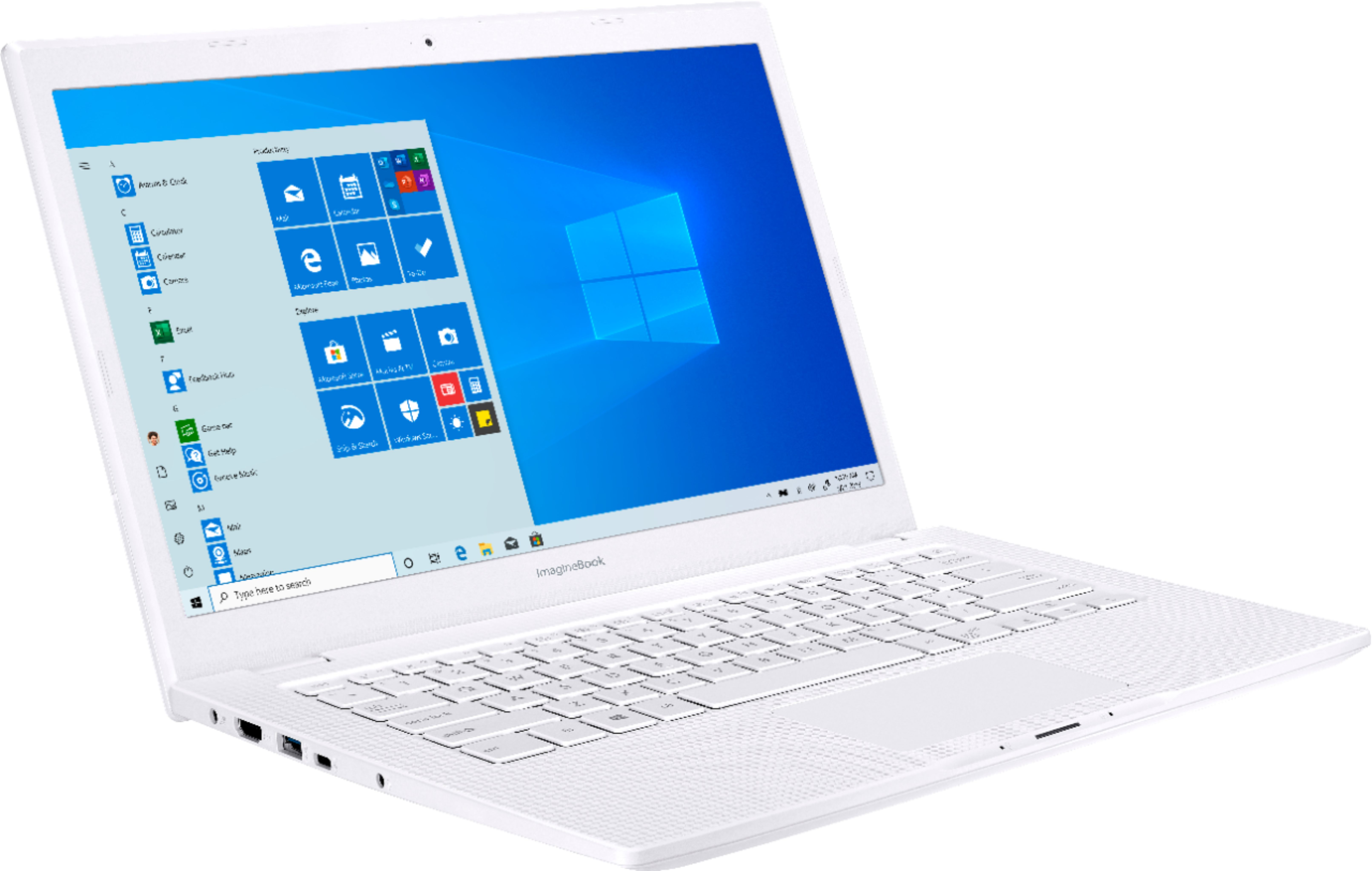 """Angle Zoom. ASUS - Geek Squad Certified Refurbished ImagineBook 14"""" Laptop - Intel Core m3 - 4GB Memory - 128GB Solid State Drive - Textured White."""