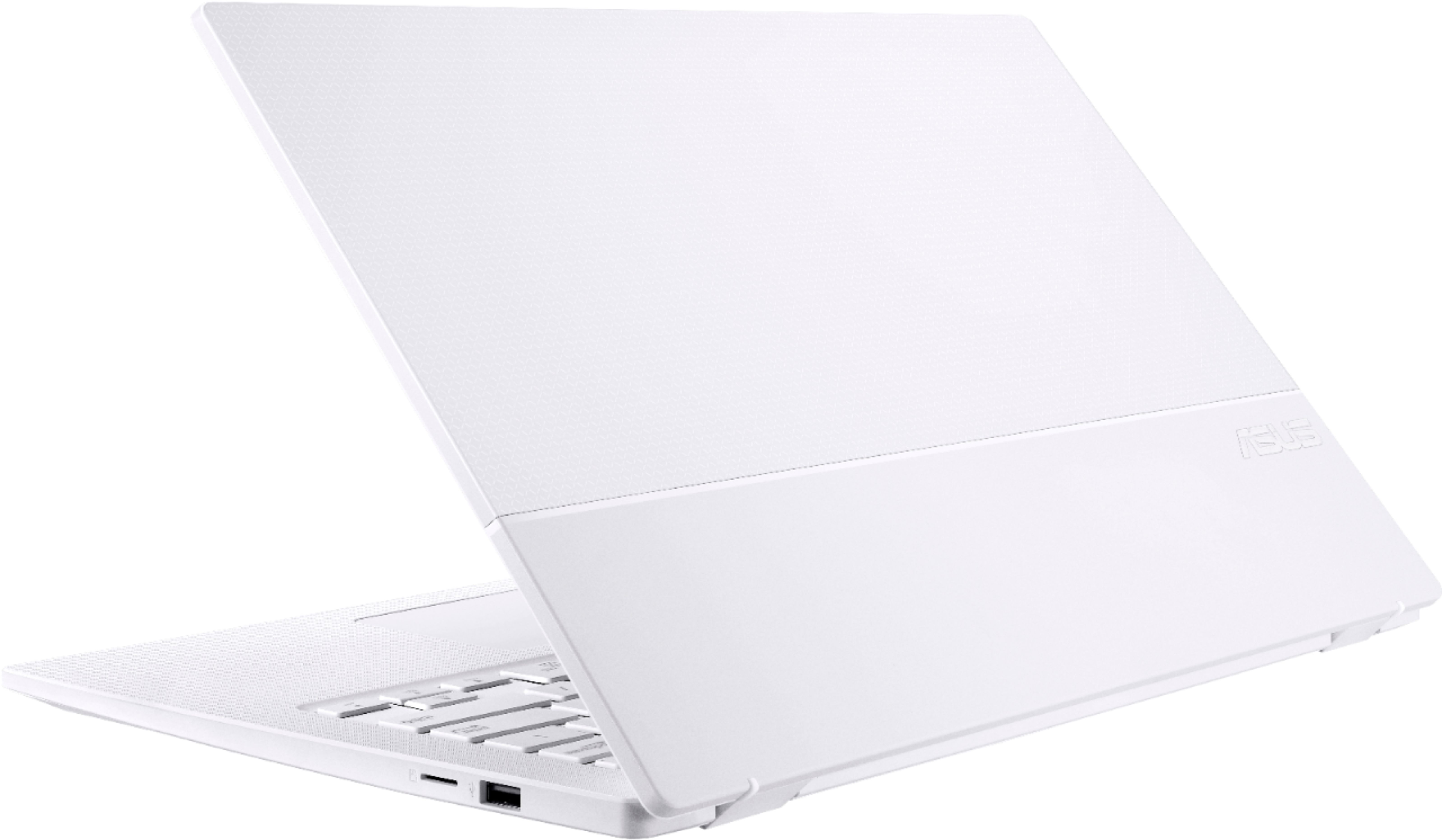 """Alt View Zoom 1. ASUS - Geek Squad Certified Refurbished ImagineBook 14"""" Laptop - Intel Core m3 - 4GB Memory - 128GB Solid State Drive - Textured White."""