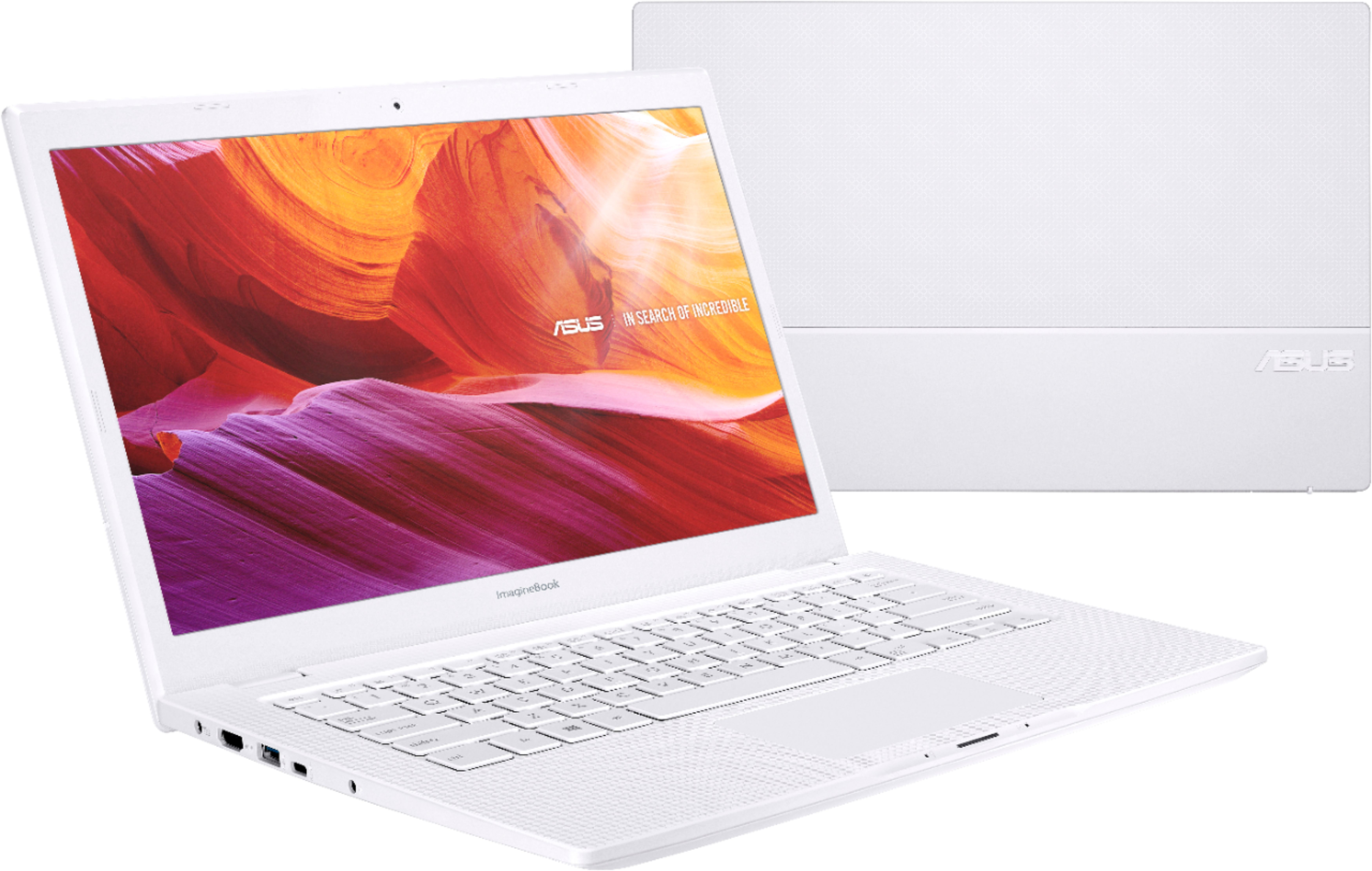 """Alt View Zoom 12. ASUS - Geek Squad Certified Refurbished ImagineBook 14"""" Laptop - Intel Core m3 - 4GB Memory - 128GB Solid State Drive - Textured White."""