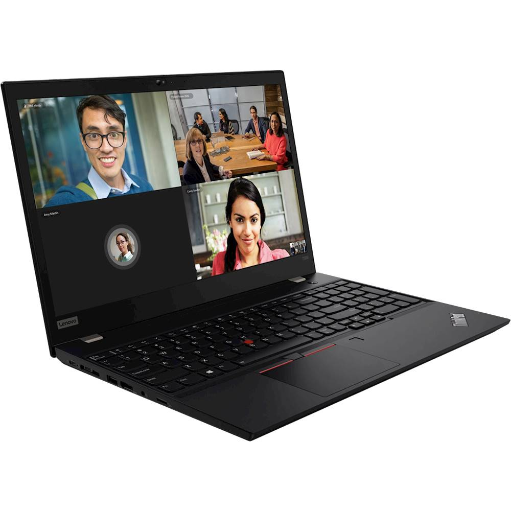 "Angle Zoom. Lenovo - ThinkPad T590 15.6"" Laptop - Intel Core i7 - 8GB Memory - 512GB Solid State Drive - Black."