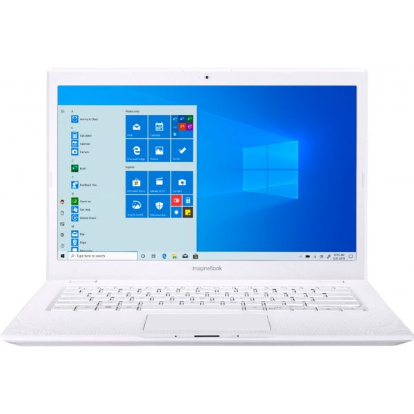 """ASUS - Geek Squad Certified Refurbished ImagineBook 14"""" Laptop - Intel Core m3 - 4GB Memory - 128GB Solid State Drive - Textured White"""