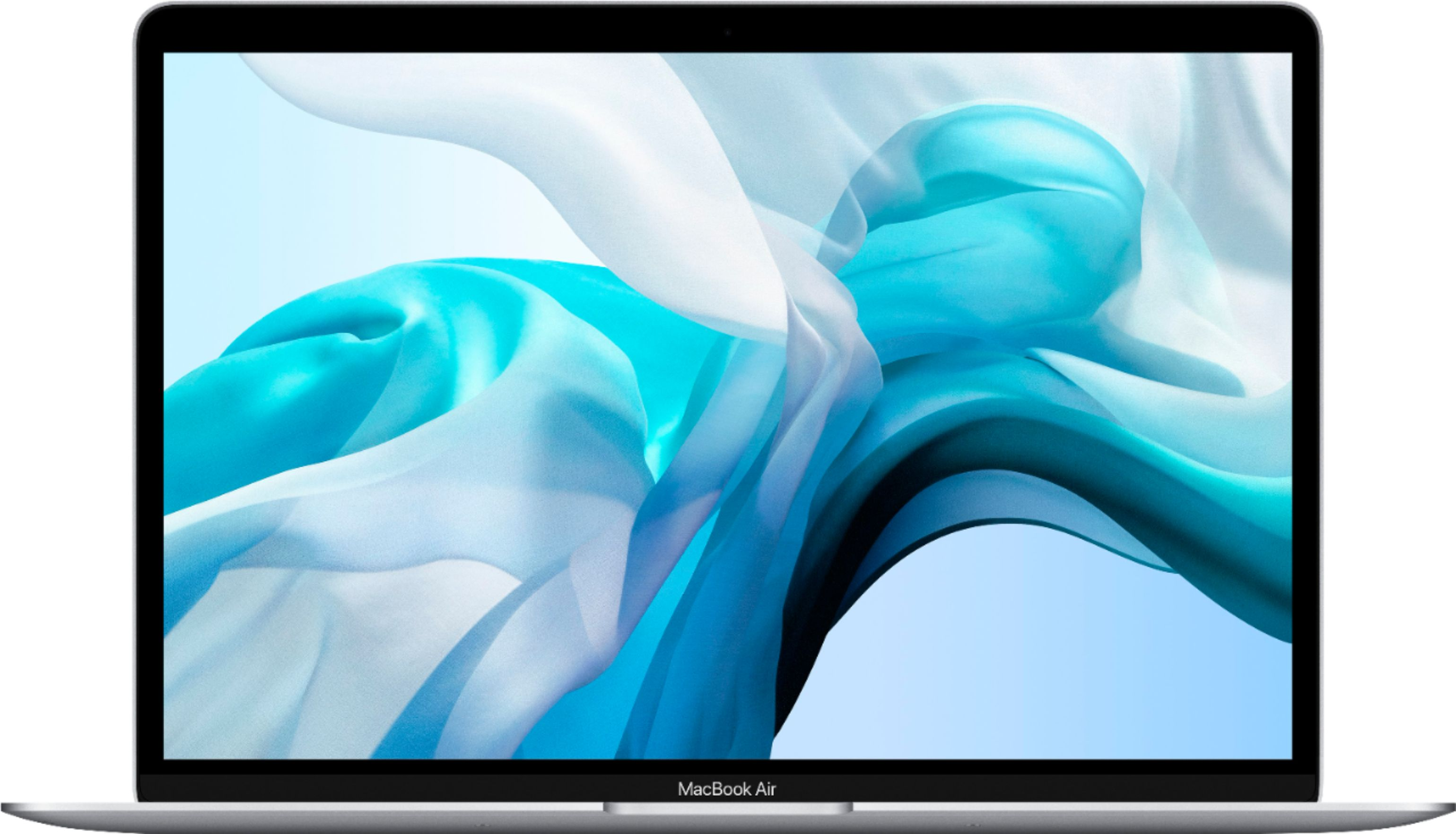 """Front Zoom. Apple - MacBook Air 13.3"""" Laptop with Touch ID - Intel Core i3 - 8GB Memory - 256GB Solid State Drive - Silver."""