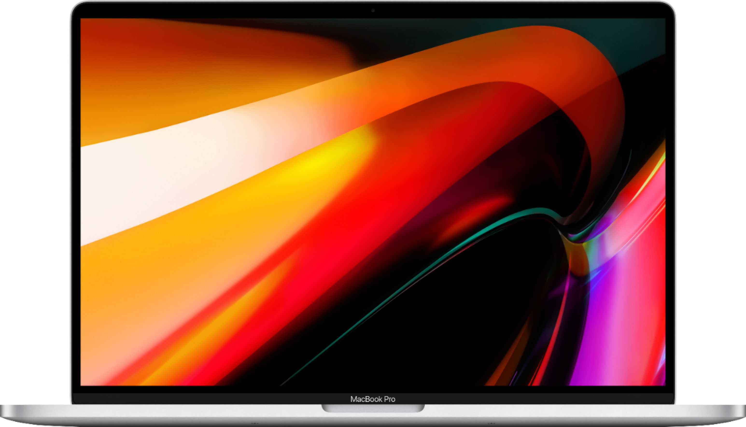 """Front Zoom. Apple - MacBook Pro - 16"""" Display with Touch Bar - Intel Core i7 - 16GB Memory - AMD Radeon Pro 5300M - 512GB SSD (Latest Model) - Silver."""