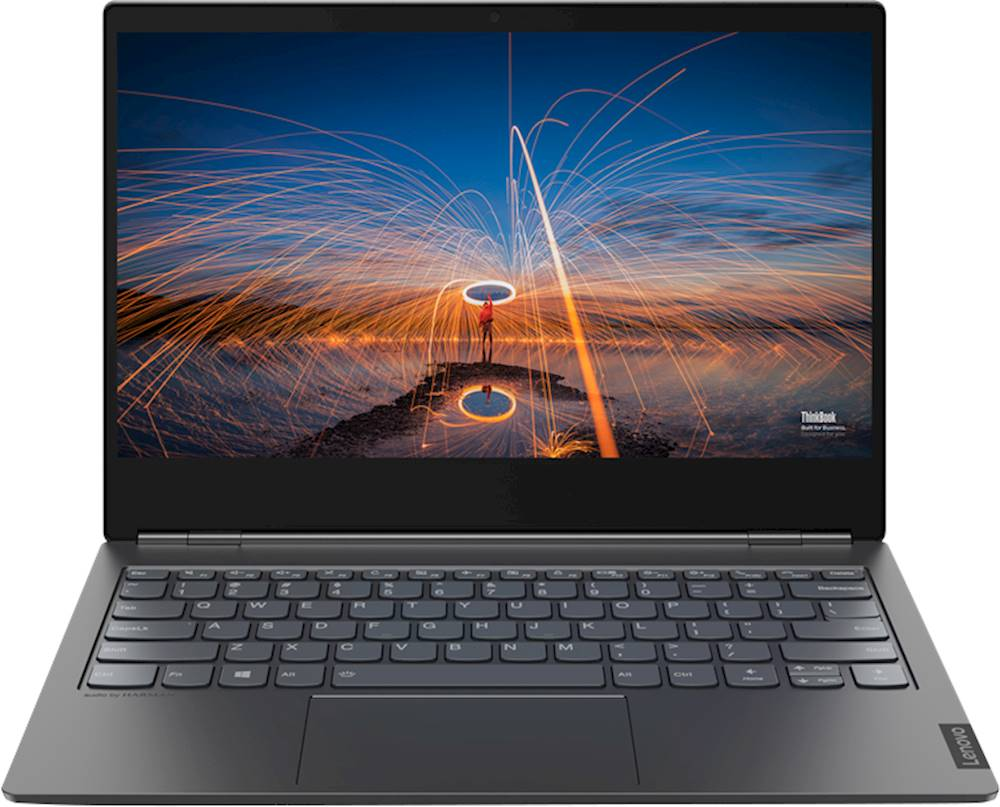 """Front Zoom. Lenovo - ThinkBook Plus IML 2-in-1 13.3"""" Laptop - Intel Core i5 - 8GB Memory - 256GB Solid State Drive - Iron Gray."""