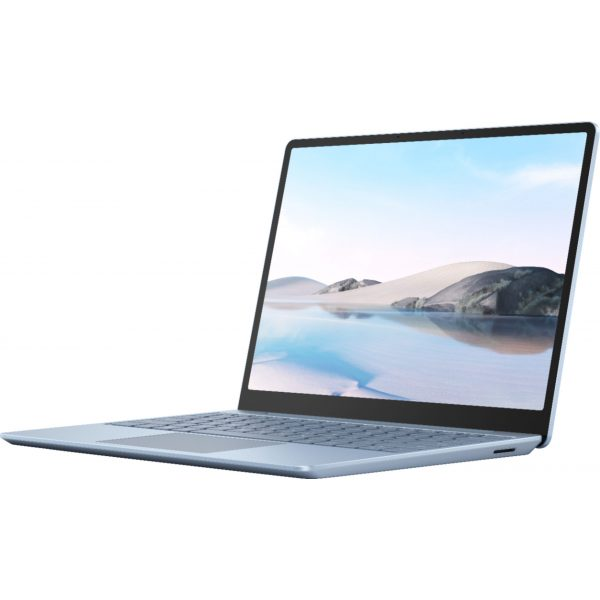 """Microsoft - Surface Laptop Go - 12.4"""" Touch-Screen - Intel 10th Generation Core i5 - 8GB Memory - 256GB Solid State Drive - Ice Blue"""