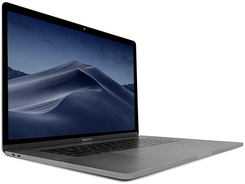 """Angle Zoom. Pre-Owned Apple Macbook Pro """"Core i7"""" 15-inch 16GB - 512GB SSd (Late 2016) - Space Gray."""