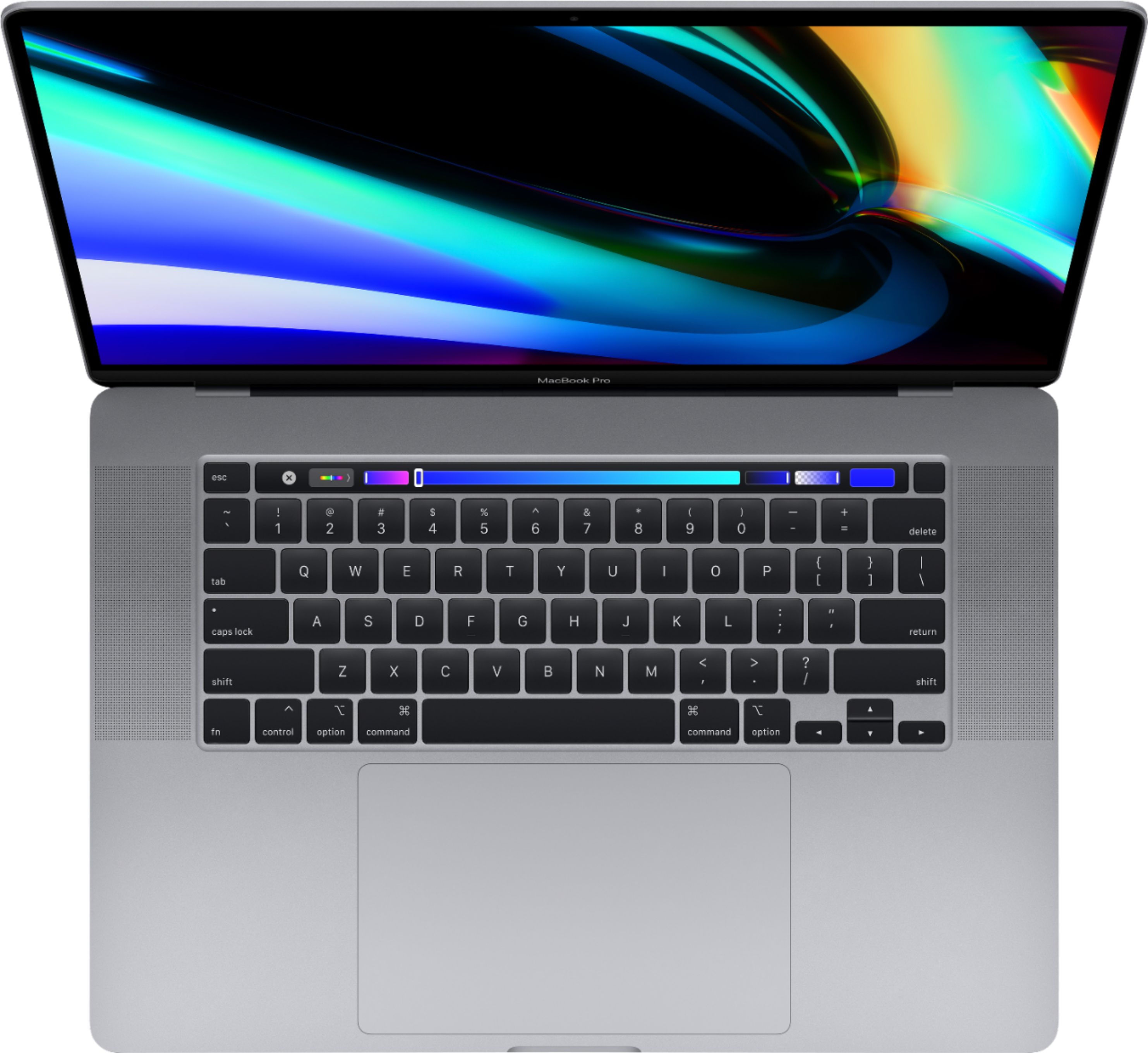 "Alt View Zoom 11. Apple - Geek Squad Certified Refurbished MacBook Pro 16"" - Intel Core i7 - 16GB Memory - AMD Radeon Pro 5300M - 512GB SSD - Space Gray."