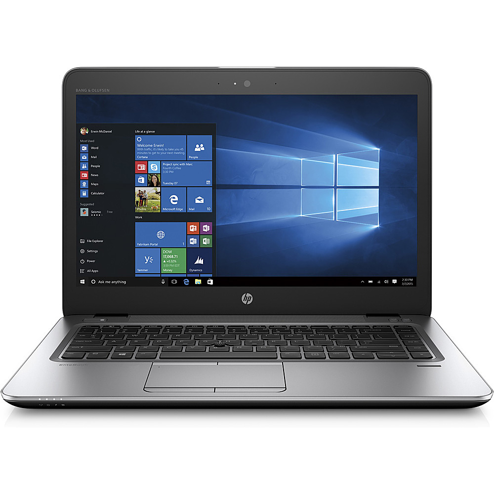 "Front Zoom. HP - EliteBook 14"" Refurbished Business Laptop - Intel i5-7200U - 8GB Memory - 256GB Solid State Drive."